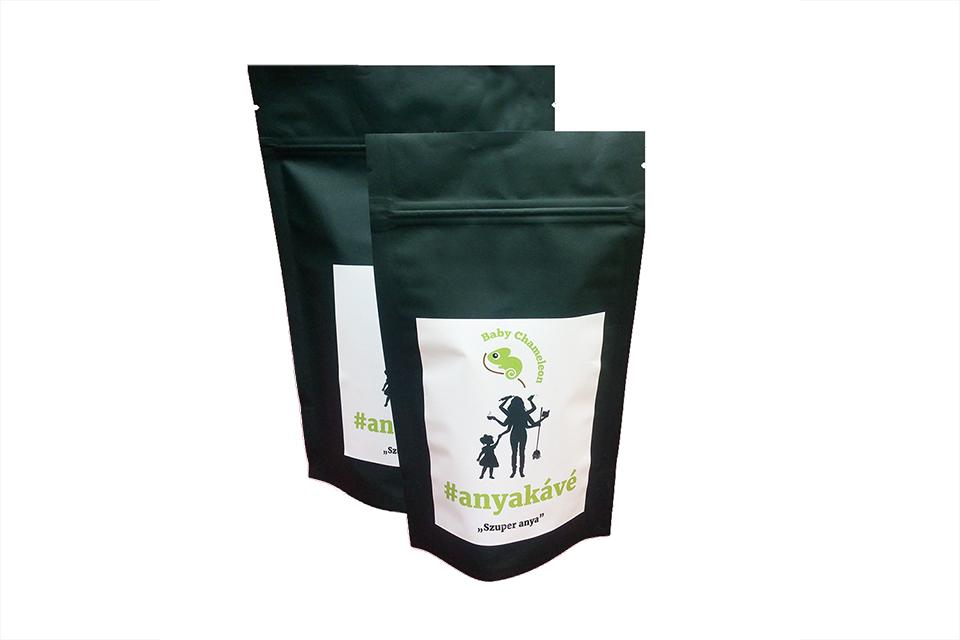 anyakávé kávé double fekvő - Kézzel készített baba-mama kiegészítők, ajándékok - Baby Chameleon