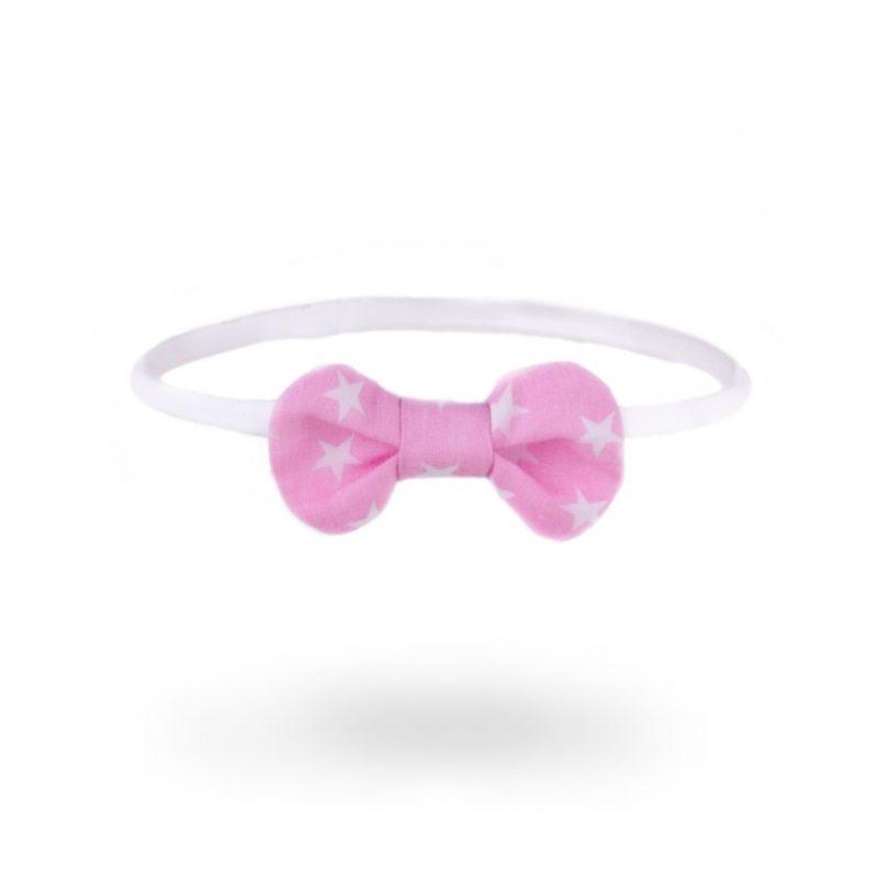Baba fejpánt: rózsaszín fehér csillagokkal fixen - Kézzel készített baba-mama kiegészítők, ajándékok - Baby Chameleon