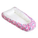 Baba fészek: rózsaszín alapon unikornisos, fehér, elfordított - Kézzel készített baba-mama kiegészítők, ajándékok - Baby Chameleon