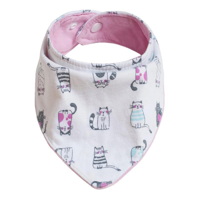 Baba nyálkendő: cicás pamut - Kézzel készített baba-mama kiegészítők, ajándékok - Baby Chameleon