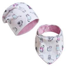 Baba sapka, baba nyálkendő: cicás szett - Kézzel készített baba-mama kiegészítők, ajándékok - Baby Chameleon