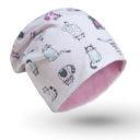 Babasapka: cicás, cica mintás - Kézzel készített baba-mama kiegészítők, ajándékok - Baby Chameleon