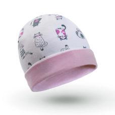 Baba sapka: cicás, cica mintás - Kézzel készített baba-mama kiegészítők, ajándékok - Baby Chameleon