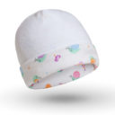 Baba sapka: csiga mintás és fehér - Kézzel készített baba-mama kiegészítők, ajándékok - Baby Chameleon