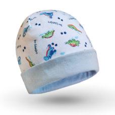 Baba sapka: dinó mintás - Kézzel készített baba-mama kiegészítők, ajándékok - Baby Chameleon
