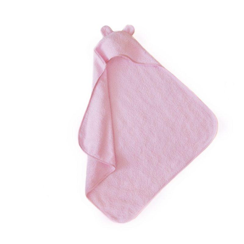 Babatörölköző: frottir macifüles rózsaszín - Kézzel készített baba-mama kiegészítők, ajándékok - Baby Chameleon