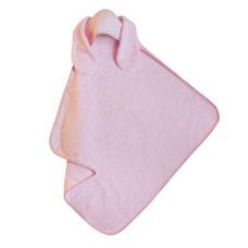 Babatörölköző: frottir nyuszifüles rózsaszín - Kézzel készített baba-mama kiegészítők, ajándékok - Baby Chameleon
