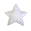 Csillag forma párna: fehér alapon sötétkék csillagos - Kézzel készített baba-mama kiegészítők, ajándékok - Baby Chameleon