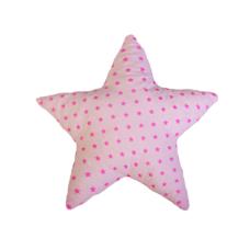 Csillag forma párna: rózsaszín alapon rózsaszín csillagos - Kézzel készített baba-mama kiegészítők, ajándékok - Baby Chameleon