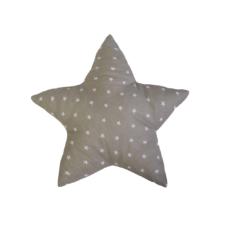 Csillag forma párna: szürke alapon fehér csillagos - Kézzel készített baba-mama kiegészítők, ajándékok - Baby Chameleon