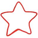 Dekor csillag piros - Kézzel készített baba-mama kiegészítők, ajándékok - Baby Chameleon