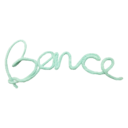 Dekor nevek Bence menta - Kézzel készített baba-mama kiegészítők, ajándékok - Baby Chameleon