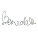 Dekor nevek Bendek szürke - Kézzel készített baba-mama kiegészítők, ajándékok - Baby Chameleon