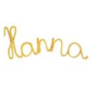Dekor nevek Hanna napsárga - Kézzel készített baba-mama kiegészítők, ajándékok - Baby Chameleon