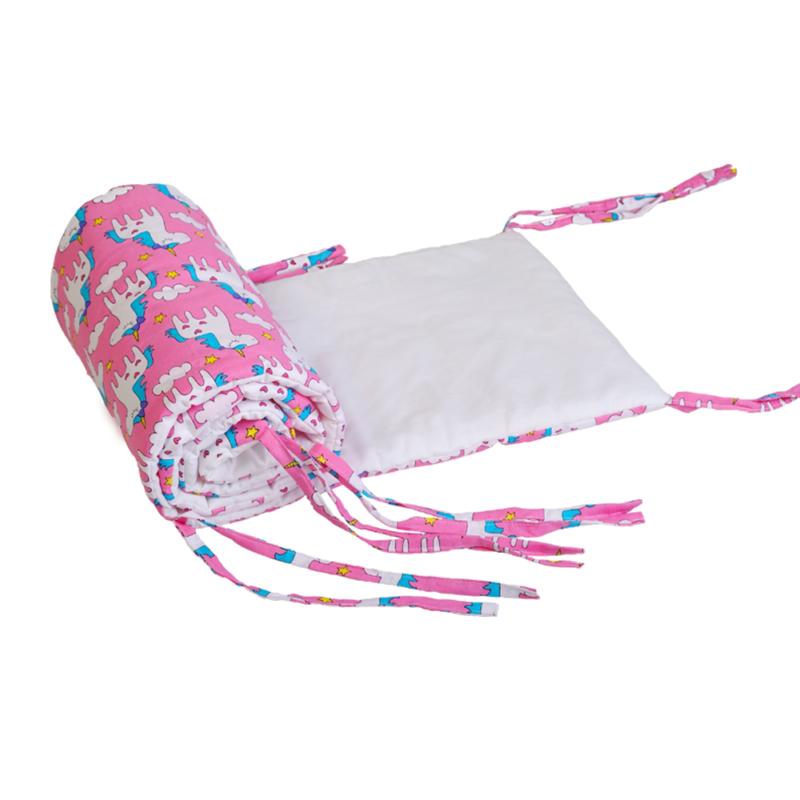 Fejvédő: rózsaszín alapon unikornisos - Kézzel készített baba-mama kiegészítők, ajándékok - Baby Chameleon