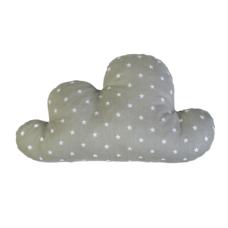 Felhő forma párna: szürke alapon fehér csillagos - Kézzel készített baba-mama kiegészítők, ajándékok - Baby Chameleon