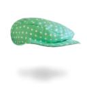 Gatsby sapka: menta alapon fehér pöttyös - Kézzel készített baba-mama kiegészítők, ajándékok - Baby Chameleon