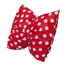 Masni párna: piros alapon fehér nagy pöttyös - Kézzel készített baba-mama kiegészítők, ajándékok - Baby Chameleon