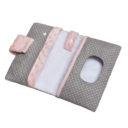 Pelenkatartó: rózsaszín-csillagos - Kézzel készített baba-mama kiegészítők, ajándékok - Baby Chameleon